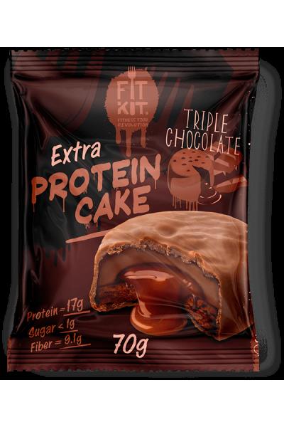 Протеиновое печенье Fit Kit Extra Protein Cake (70 гр.)