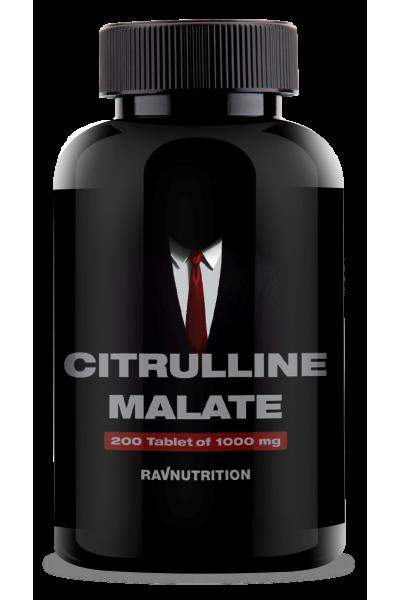 Цитруллин Малат Ravnutrition, 1000mg, 200 табл.