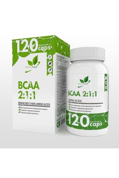 BCAA (БЦАА) 2:1:1 от NaturalSupp (60 капсул)