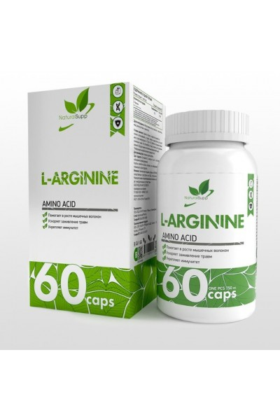 Л-Аргинин (L-Arginine) NaturalSupp, 60 капсул