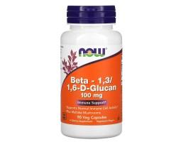 Beta 1,3/1,6-D- Glucan (Бета Глюкан) от NOW 90 вег. капс.