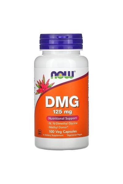 DMG (ДМГ) Диметилглицин от NOW 100вег.капс.