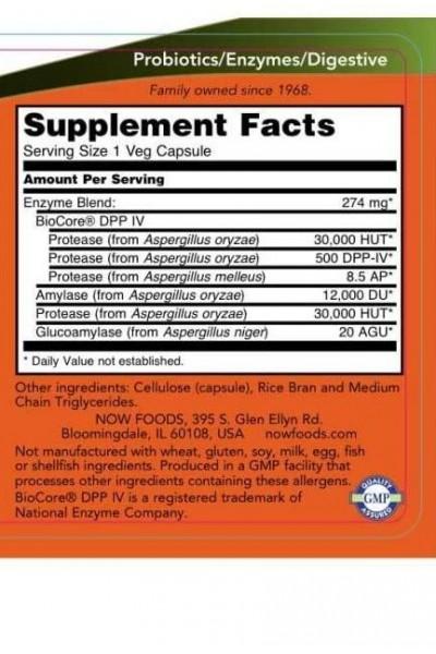 Ферменты для переваривания глютена - Gluten Digest Enzymes NOW Foods, 60 вег.капс.