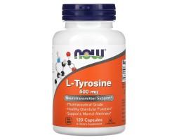 L-Tyrosine (Л-тирозин) от NOW 500мг (120 капс)