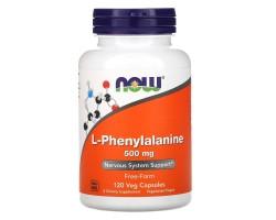 L-Phenylalanine (L-фенилаланин) от NOW 500мг 120 вег.капс