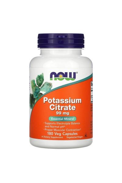 Калий Цитрат (Potassium Citrate) от NOW 99 МГ (180 вег.капс.)