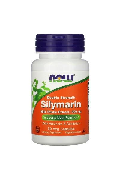 Силимарин (Silymarin) NOW, 50 вег.капсул