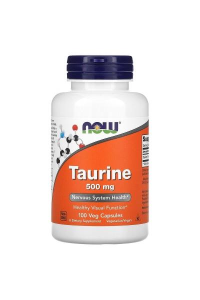 Taurine (Таурин) от NOW, 500мг, 100 капс.