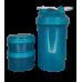 Пластиковый Шейкер 3 в 1, с контейнерами и таблетницей,  450 мл