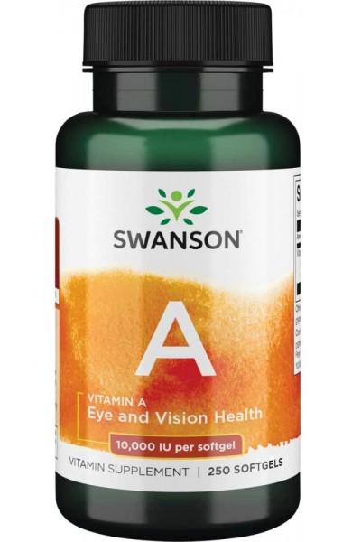 Vitamin A 10.000 IU от Swanson (250 капсул)