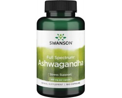 Ашваганда (Ashwagandha) от Swanson, 100 капс.