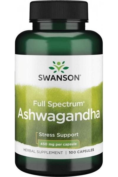 Ашваганда (Ashwagangha Swanson), 100 капсул