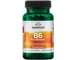 Витамин B6 (Пиридоксин) от Swanson (100 капс)