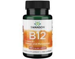 Витамин B-12 (Цианокобаламин) от Swanson, 250 капс.