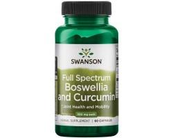 Boswellia and Curcumin (Босвеллия и куркумин) Swanson (60 капс)