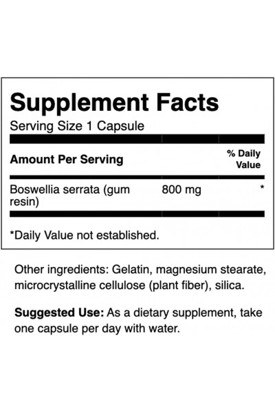 Boswellia (Босвеллия) Swanson, 800 мг, 60 капсул
