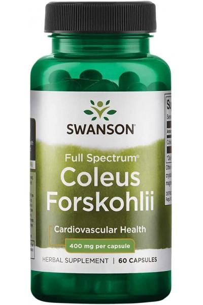 Форсколин (Coleus Forskohlii) Swanson, 60 капсул