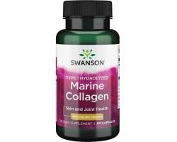 Коллаген Морской (Marine collagen) Swanson, 60капс., гидролизат