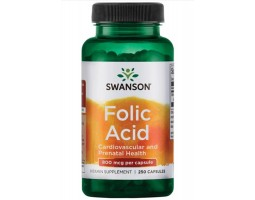 Folic Acid (Фолиевая кислота) от Swanson, 250 капс.