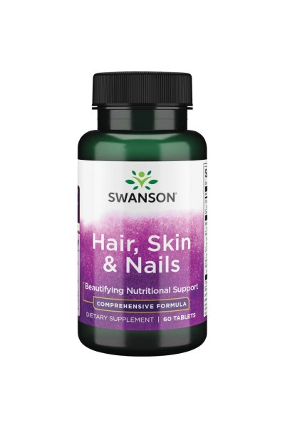 Hair, Skin and Nails Hair от Swanson, 60 таблеток