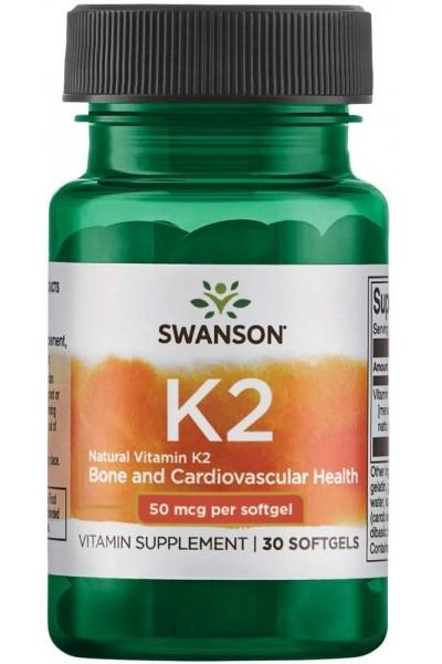 Витамин K2 50мкг 30капс Swanson