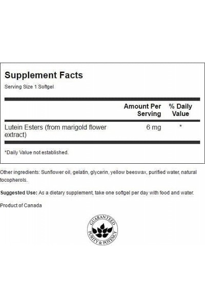 Lutein (Лютеин) 6мг от Swanson, 100 гел. капсул