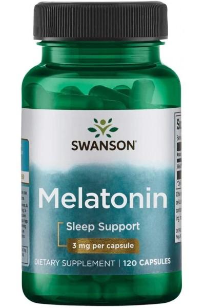 Melatonin от  Swanson 3 mg, 120 капсул
