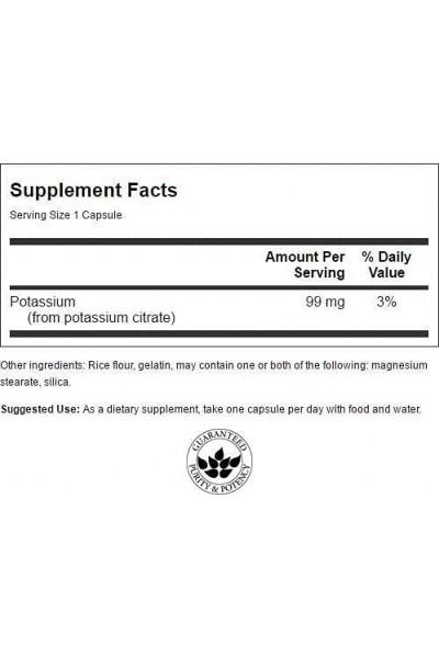 Калий Цитрат (Potassium Citrate Swanson) 99 мг, 120 капсул