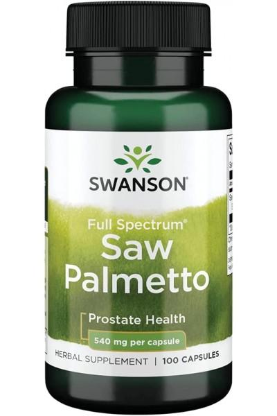 Со Пальметто (Saw Palmetto) Swanson, 100 капсул