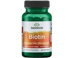 Swanson Biotin 10000 мкг  60 капс.