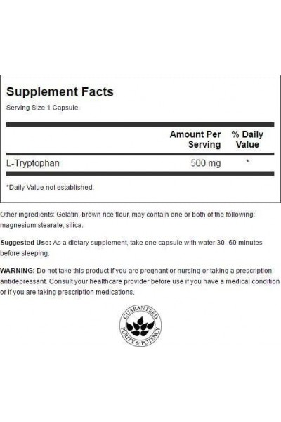 L-Tryptophan (L-Триптофан) от Swanson, 60капсул
