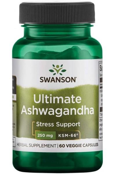 Ашваганда (Ultimate Ashwagangha Swanson), 60 вег. капсул