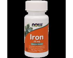 Iron (Железо Хелат 18 мг) от Now (120 вег.капс)
