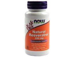 Natural Resveratrol 200 mg от NOW (60 капс)