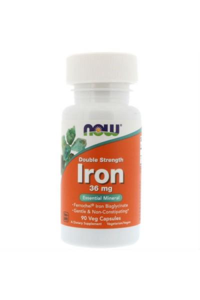 Iron (Железо Хелат) 36 mg от NOW (90 Caps)