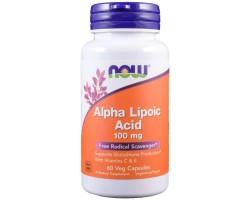 Альфа-липоевая кислота 100 мг от NOW Foods (60/120 вег. капс)