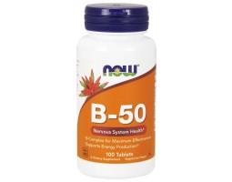 Комплекс B-50 от NOW Foods (100 caps)
