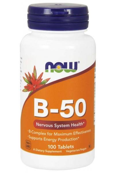 Комплекс B-50 от NOW Foods (100 капсул)