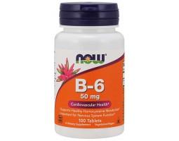 Витаимн B-6 50 мг от NOW Foods ( 100 таб)