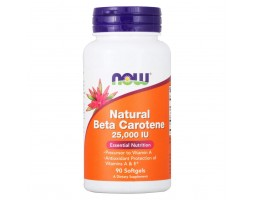Natural Beta Carotene 25000 от NOW (90 soft gel)