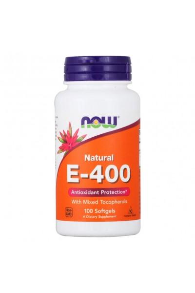 Витамин E-400 от NOW Foods (100 caps)