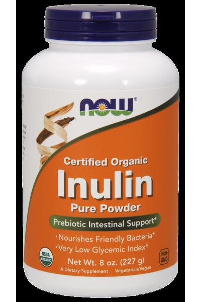 Inulin pure powder (пребиотик) от NOW ( 227 gr)