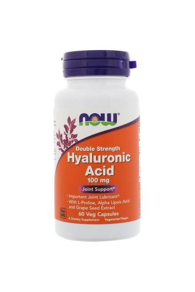 Гиалуроновая кислота (Hyaluronic Acid) NOW Foods, 60 или 120 капсул