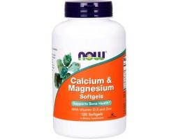 Calcium & Magnesium от NOW Foods (120 капс)