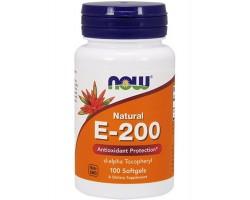 Витамин E-200 от NOW (100 гел.капс.)
