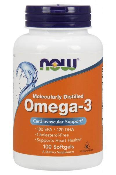Omega 3 от NOW (100/200 капс)