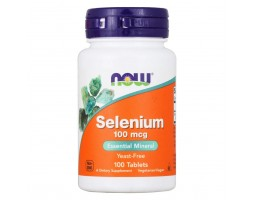 Selenium 100 mcg от NOW, 100 табл.