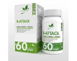 B-Attack NaturalSupp  – Main B vitamins + vitamin C (60 капс)