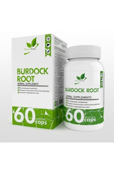 Экстракт корня лопуха (Burdock Root) NaturalSupp, 1000 мг, 60 капсул