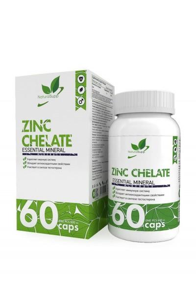 Цинк хелат - Zinc Chelate NaturalSupp (60 капсул)